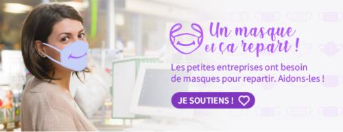 """Opération """"Un masque et ça repart"""""""